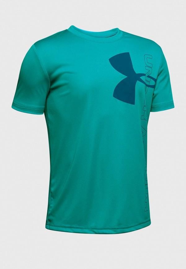 футболка under armour для мальчика, бирюзовая