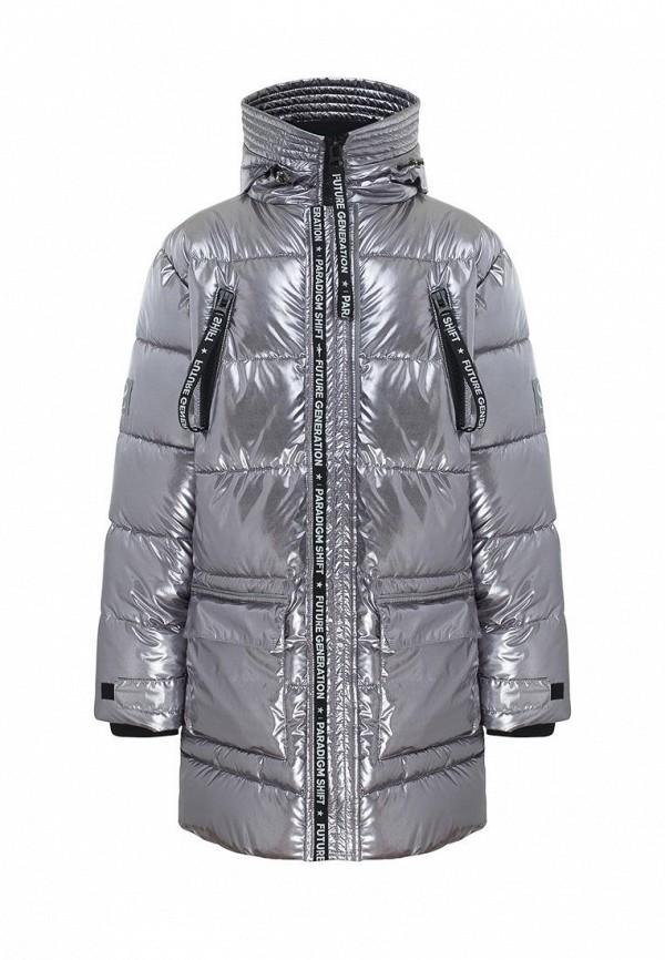 утепленные куртка смена для мальчика, серебряная
