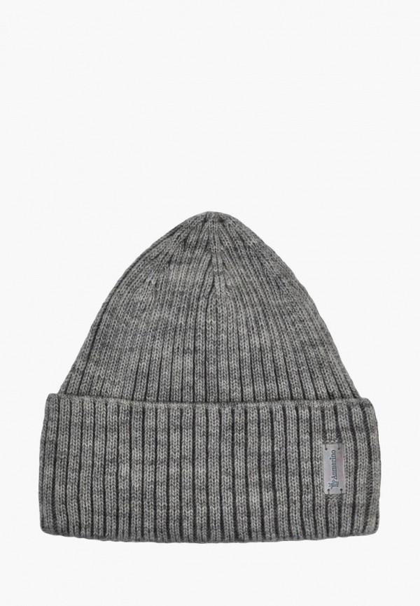 шапка anmerino для мальчика, серая