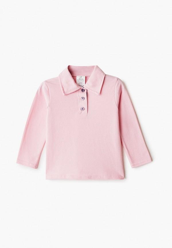 поло archyland для мальчика, розовое