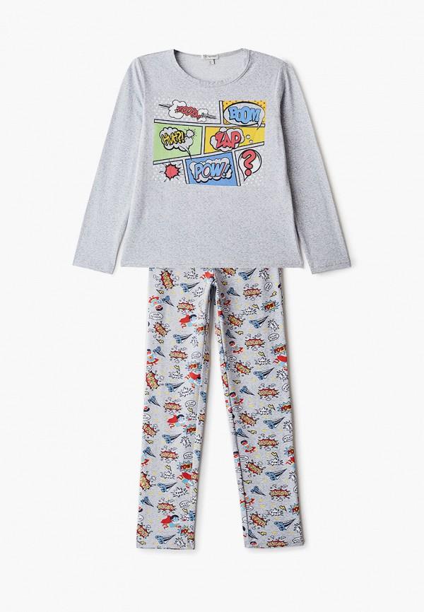пижама trenders для мальчика, серая
