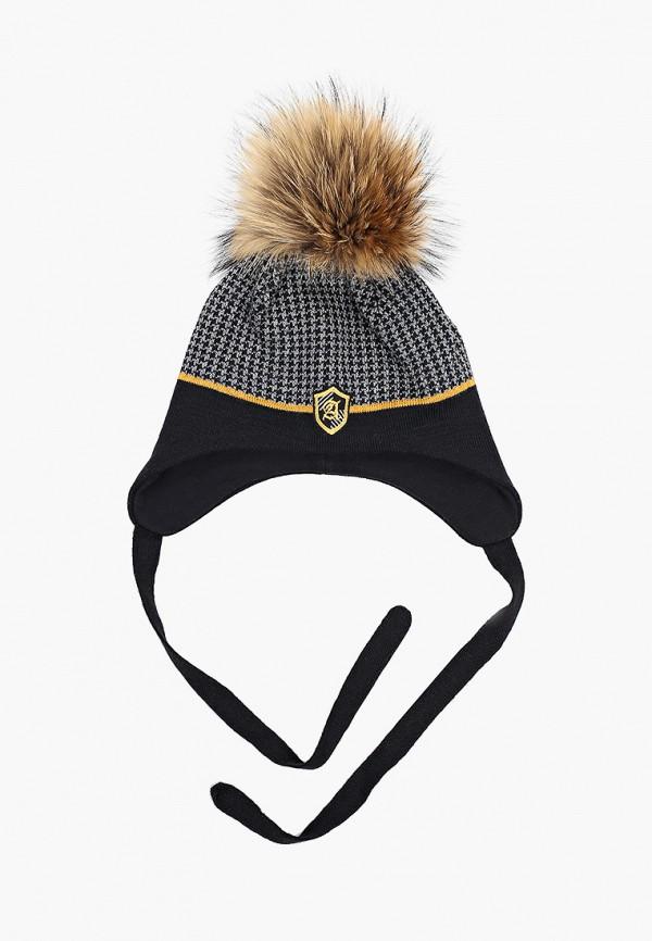 шапка artel для мальчика, черная