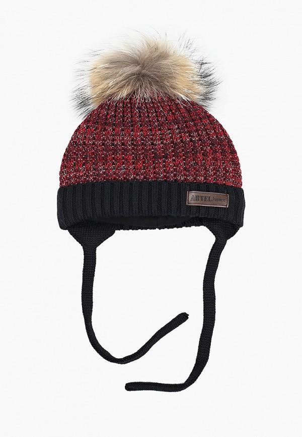 шапка artel для мальчика, бордовая