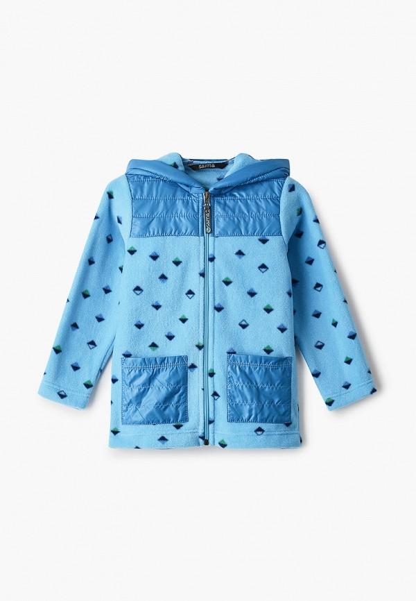 легкие куртка saima для мальчика, голубая