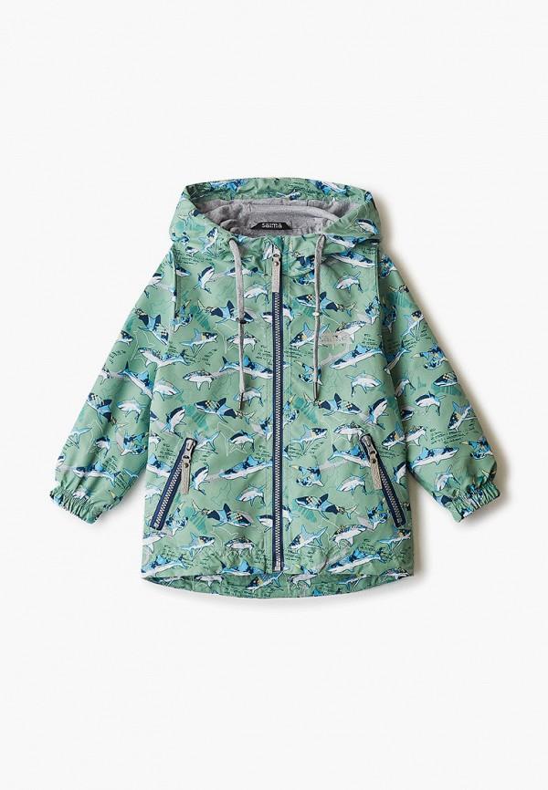 легкие куртка saima для мальчика, зеленая