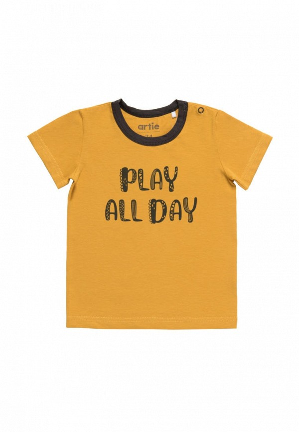 футболка с коротким рукавом artie для мальчика, желтая