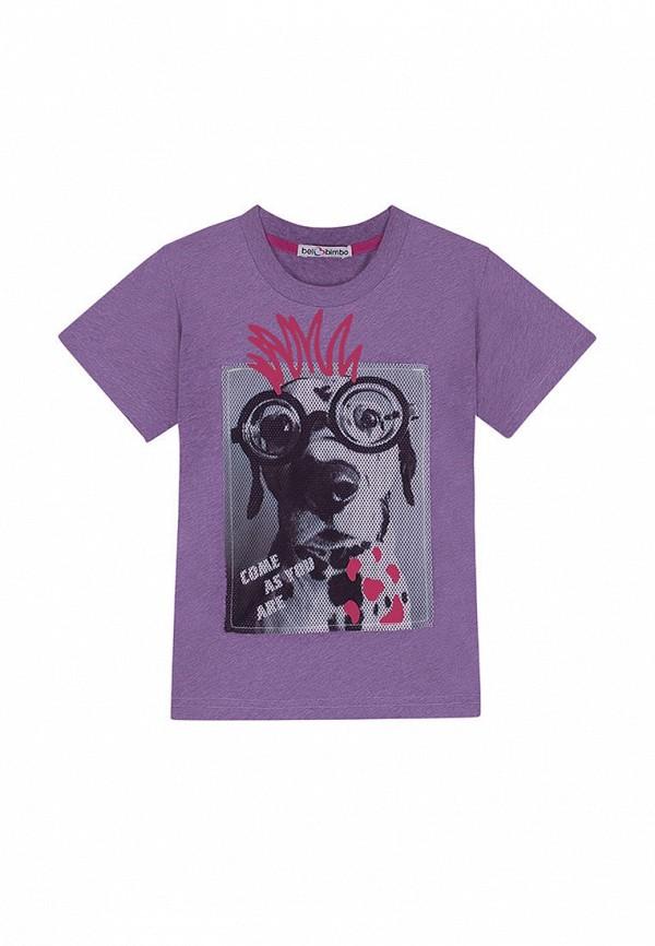 футболка с коротким рукавом bell bimbo для мальчика, фиолетовая