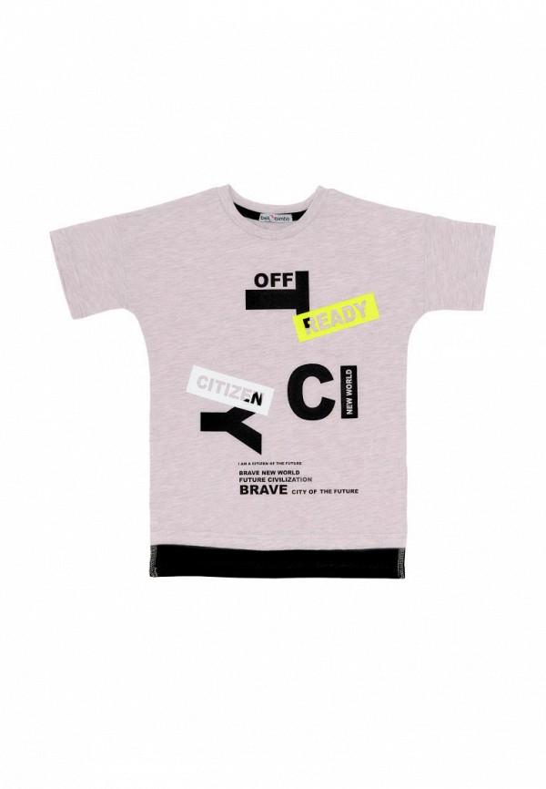 футболка с коротким рукавом bell bimbo для мальчика, бежевая