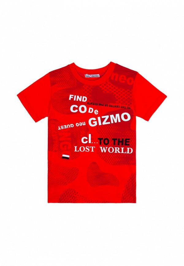 футболка с коротким рукавом bell bimbo для мальчика, красная