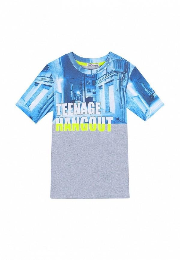 футболка с коротким рукавом bell bimbo для мальчика, серая