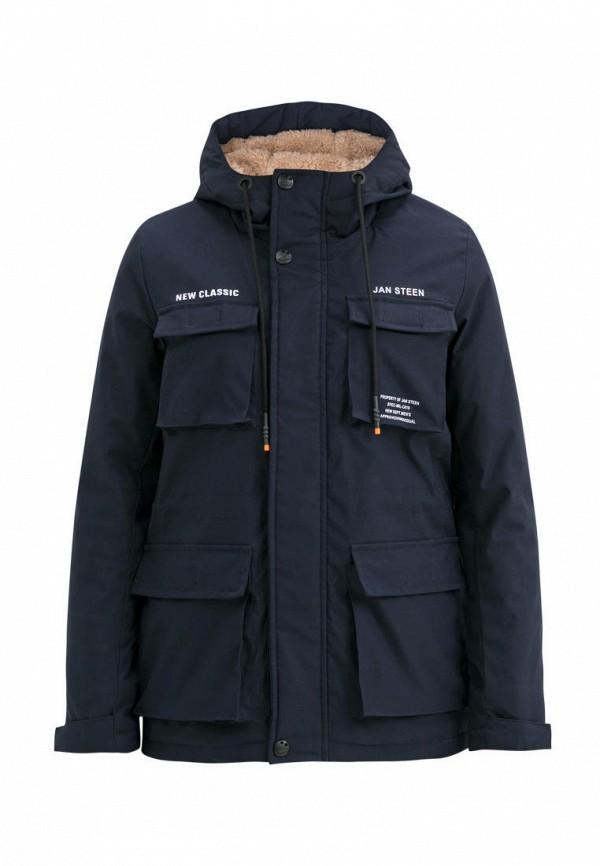 утепленные куртка jan steen для мальчика, синяя