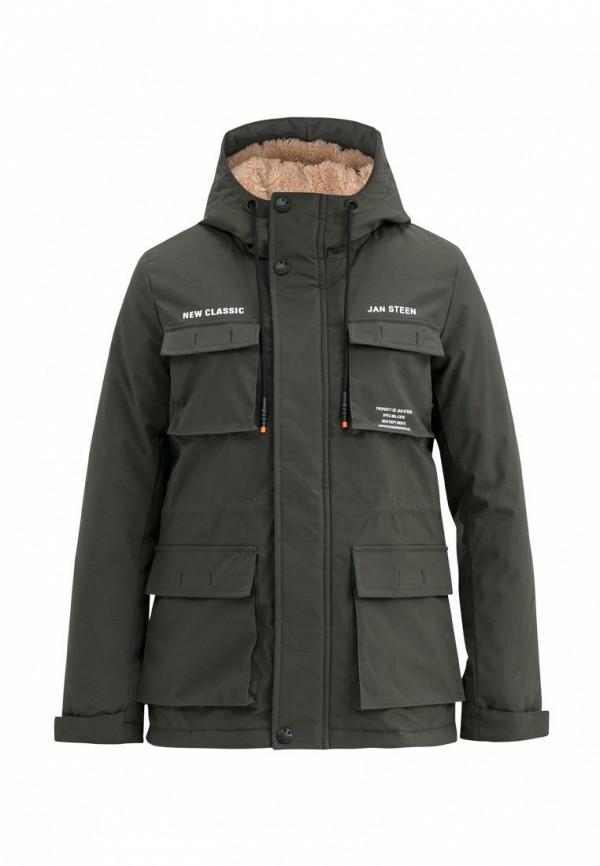утепленные куртка jan steen для мальчика, хаки