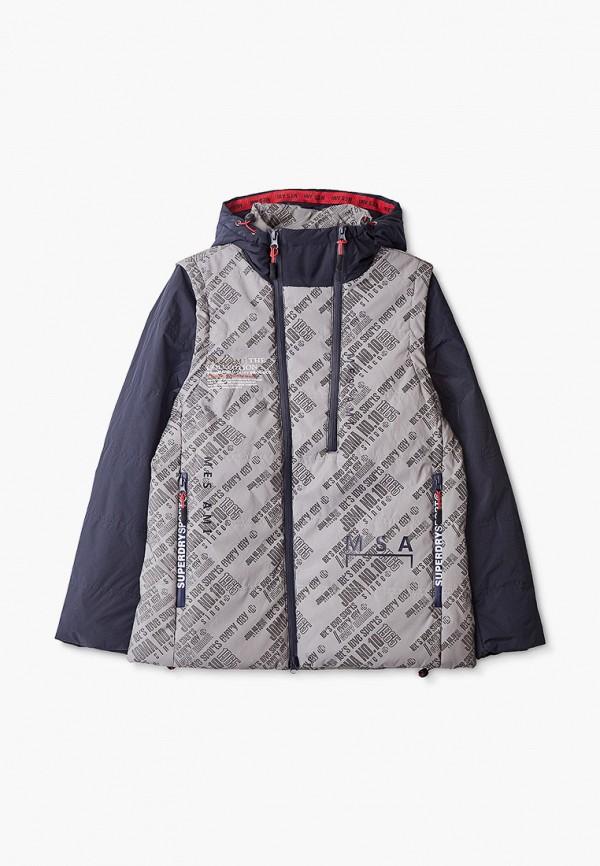 утепленные куртка mes ami для мальчика, синяя