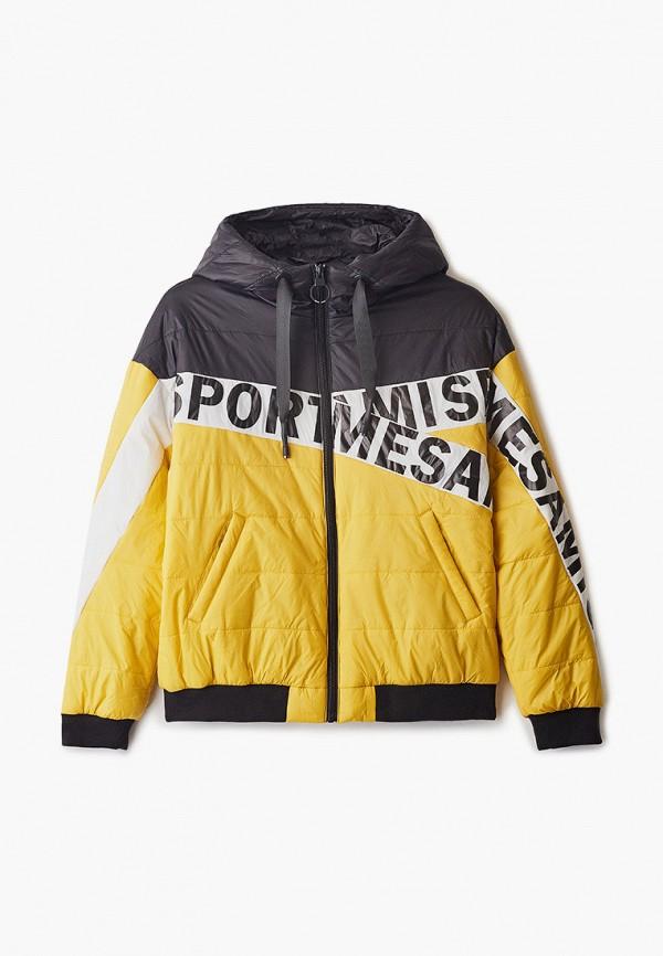 утепленные куртка mes ami для мальчика, желтая