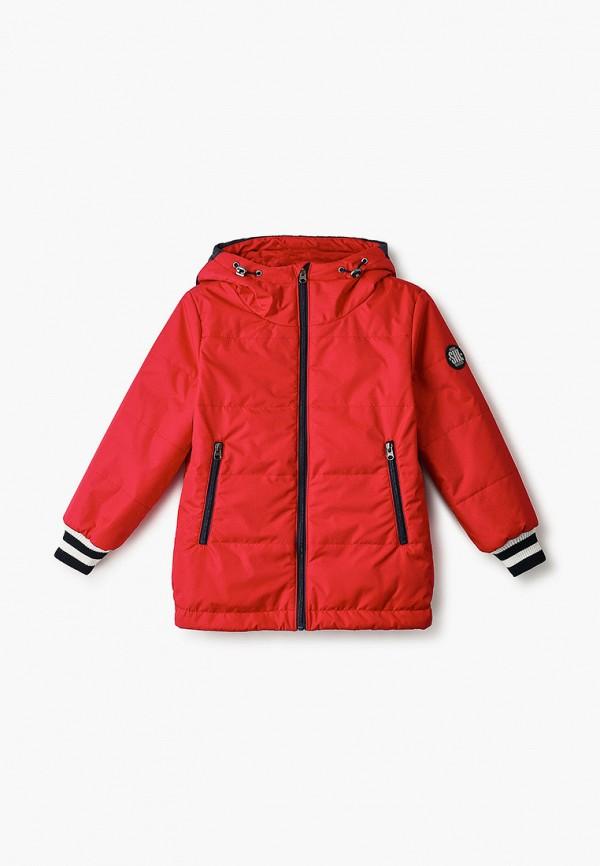 утепленные куртка шалуны для мальчика, красная