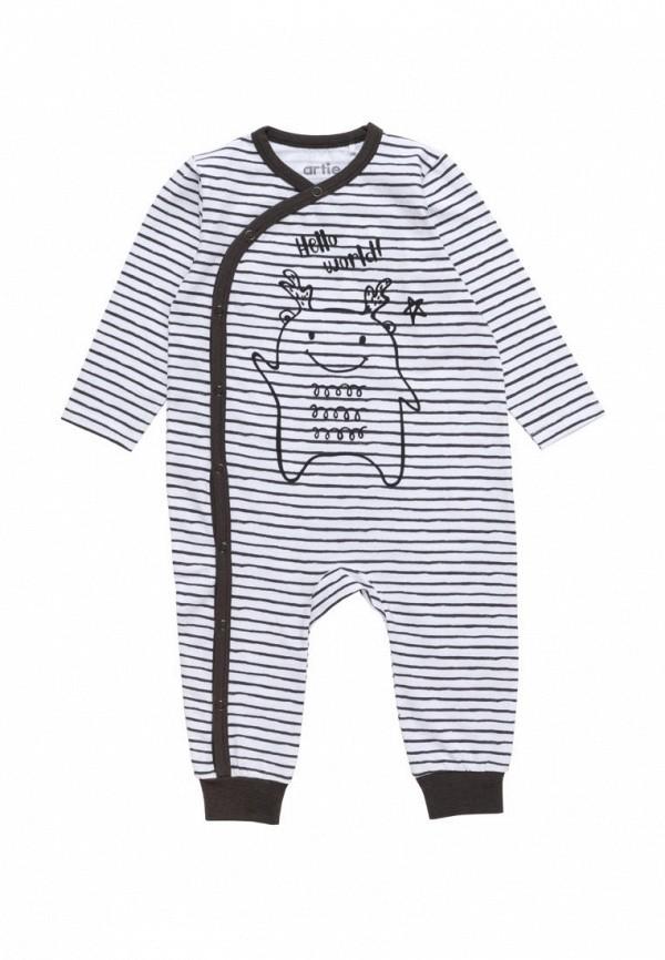 комбинезон с брюками artie для мальчика, белый