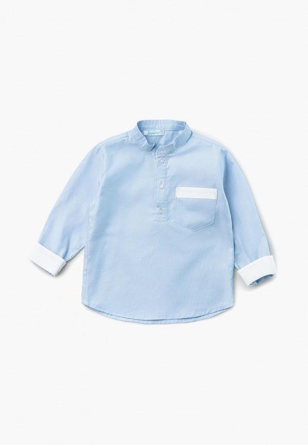 рубашка sonata kids для мальчика, голубая