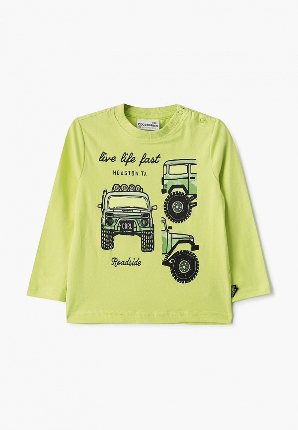 лонгслив coccodrillo для мальчика, зеленый