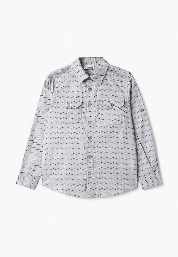рубашка coccodrillo для мальчика, серая