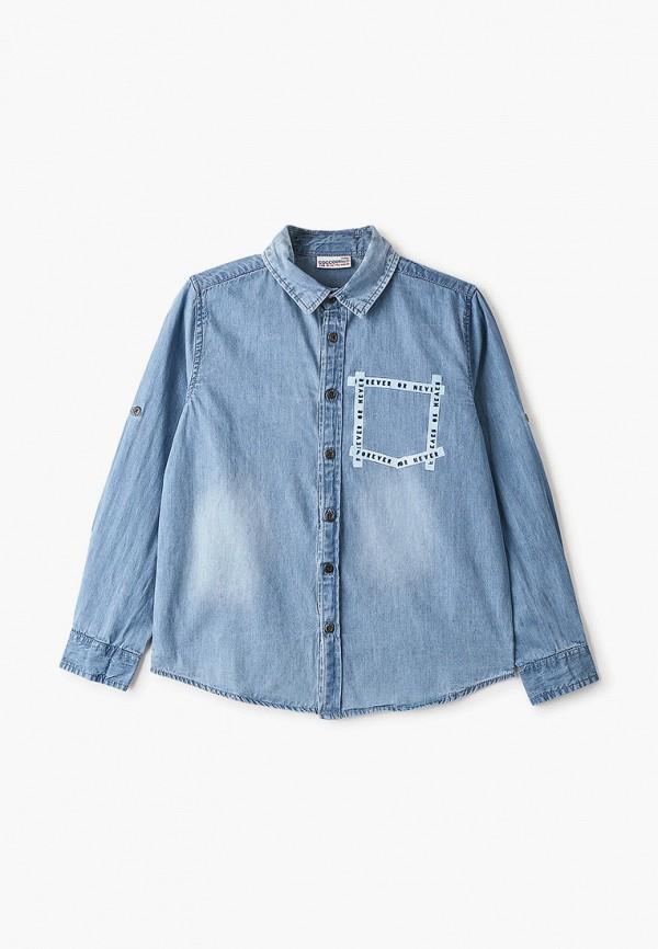 джинсовые рубашка coccodrillo для мальчика, голубая
