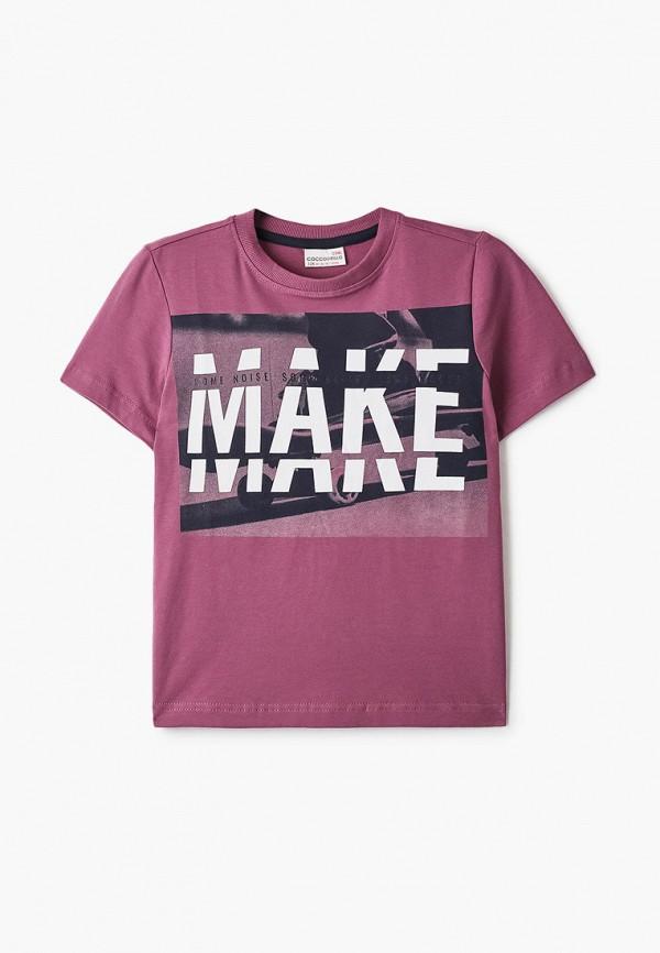 футболка с коротким рукавом coccodrillo для мальчика, розовая