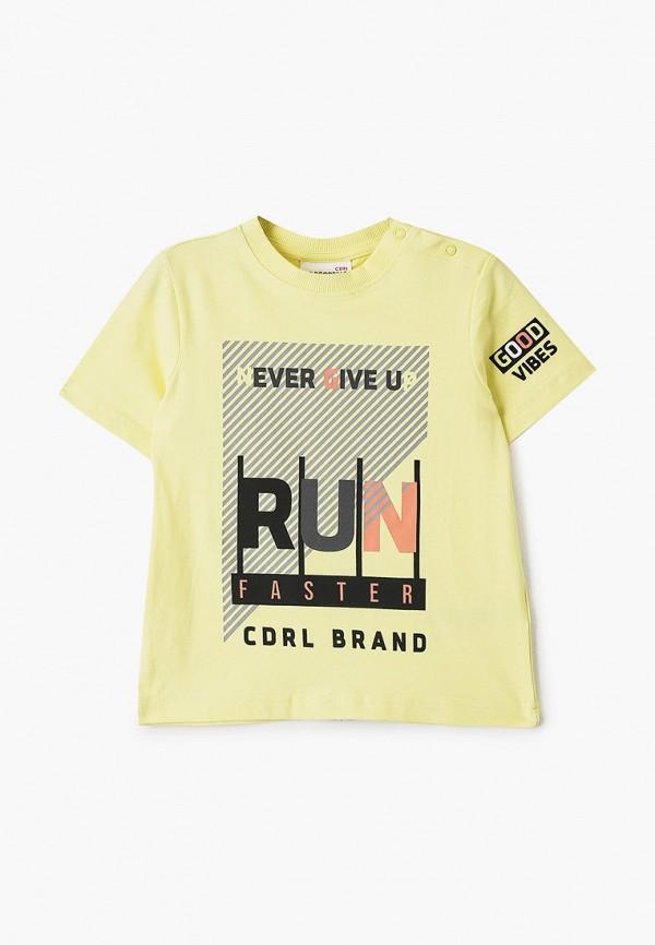 футболка с коротким рукавом coccodrillo для мальчика, желтая