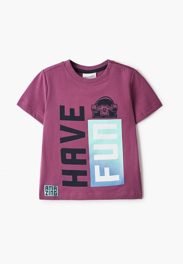 футболка с коротким рукавом coccodrillo для мальчика, фиолетовая