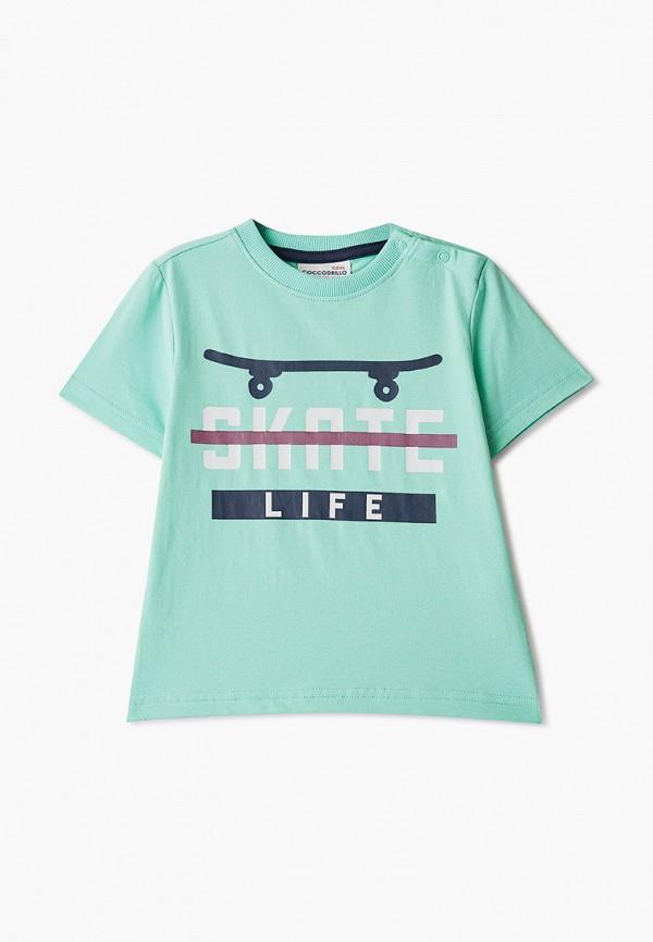 футболка с коротким рукавом coccodrillo для мальчика, бирюзовая