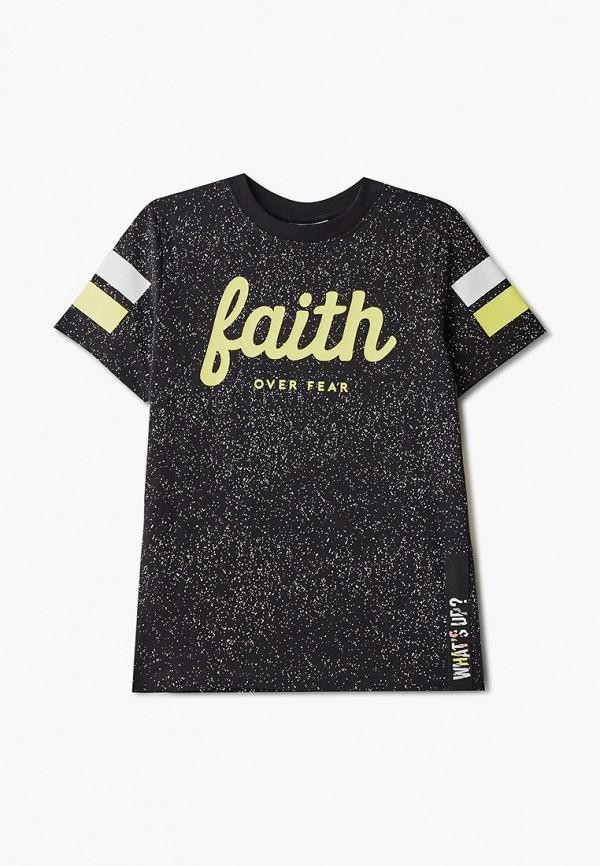 футболка с коротким рукавом coccodrillo для мальчика, черная