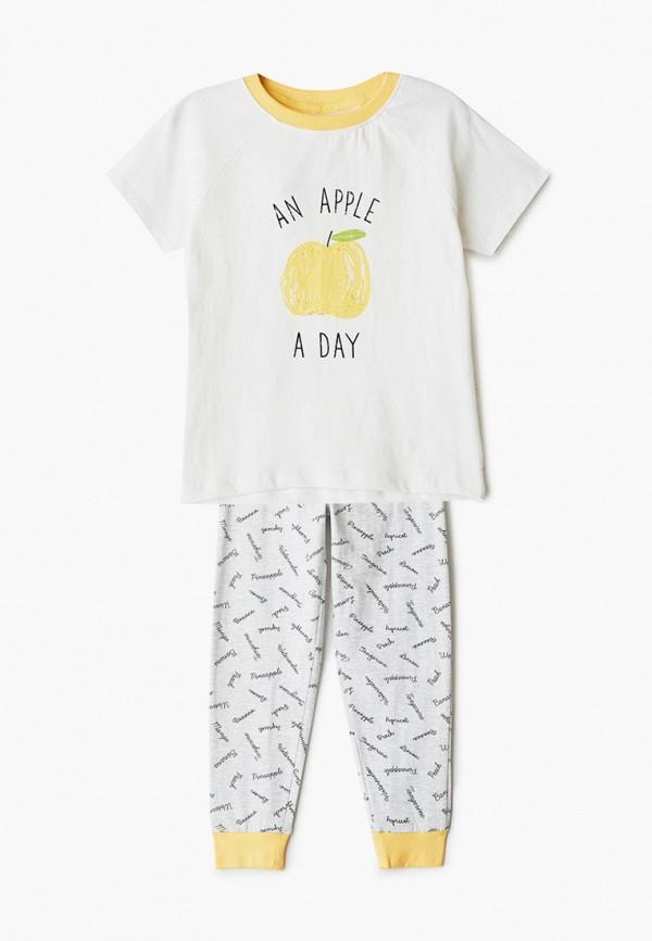 пижама sela для мальчика, белая