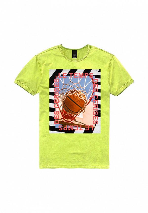 футболка с коротким рукавом le temps des cerises для мальчика, желтая