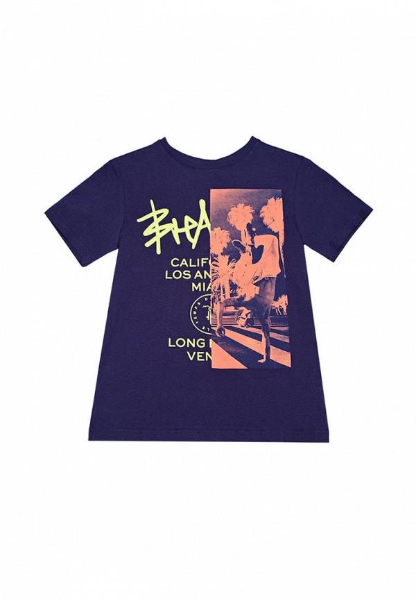 футболка с коротким рукавом le temps des cerises для мальчика, синяя