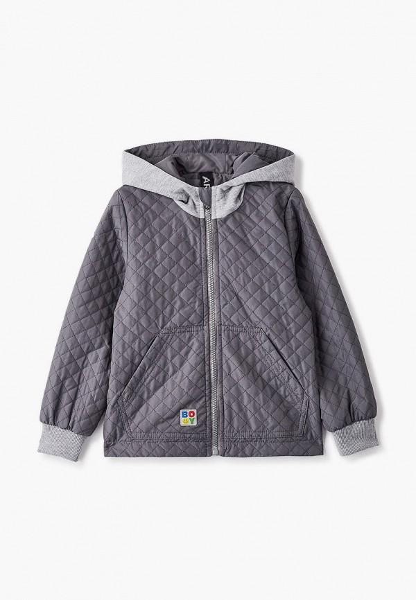 легкие куртка артус для мальчика, серая