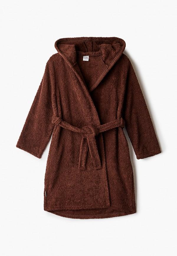 халат looklie для мальчика, коричневый