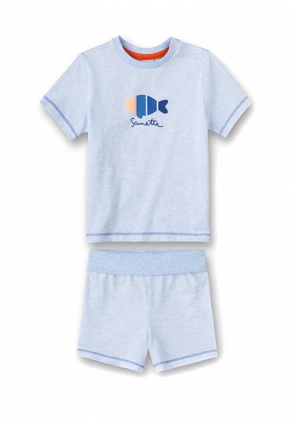 пижама sanetta для мальчика, голубая