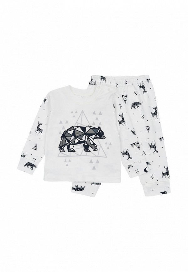 пижама фламинго текстиль для мальчика, белая