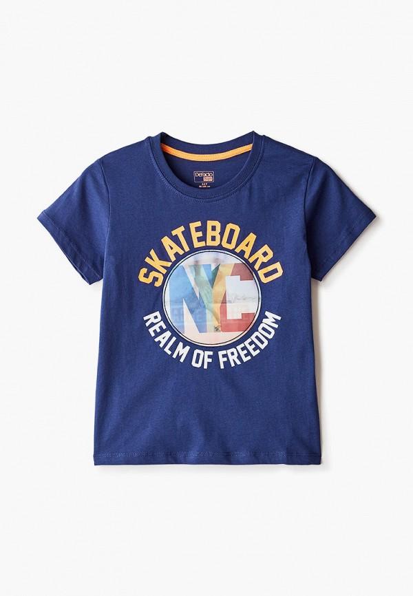 футболка с коротким рукавом defacto для мальчика, синяя