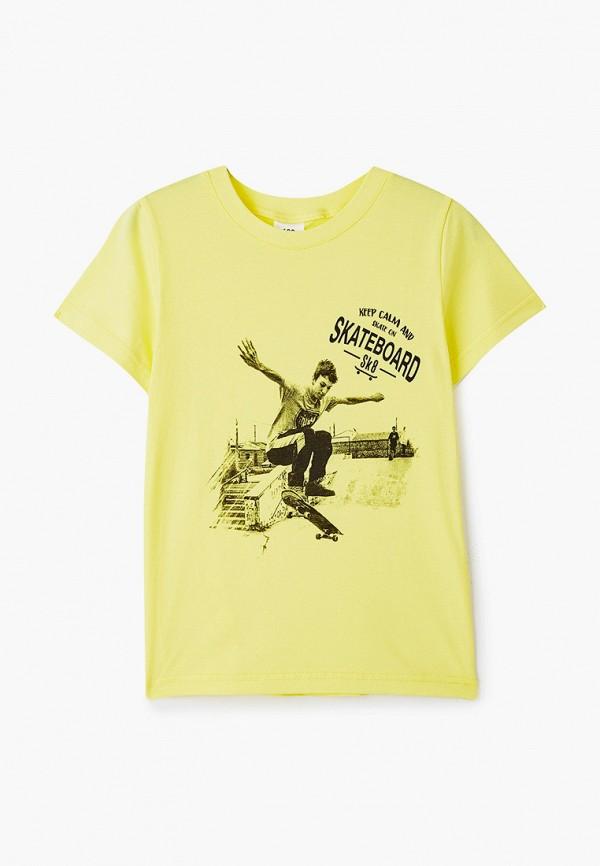футболка с коротким рукавом repost для мальчика, желтая
