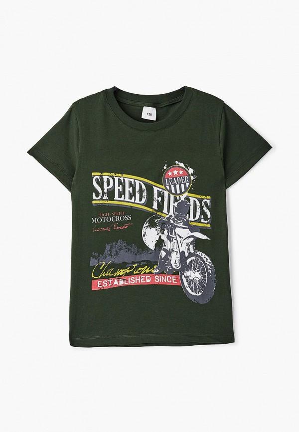 футболка с коротким рукавом repost для мальчика, хаки