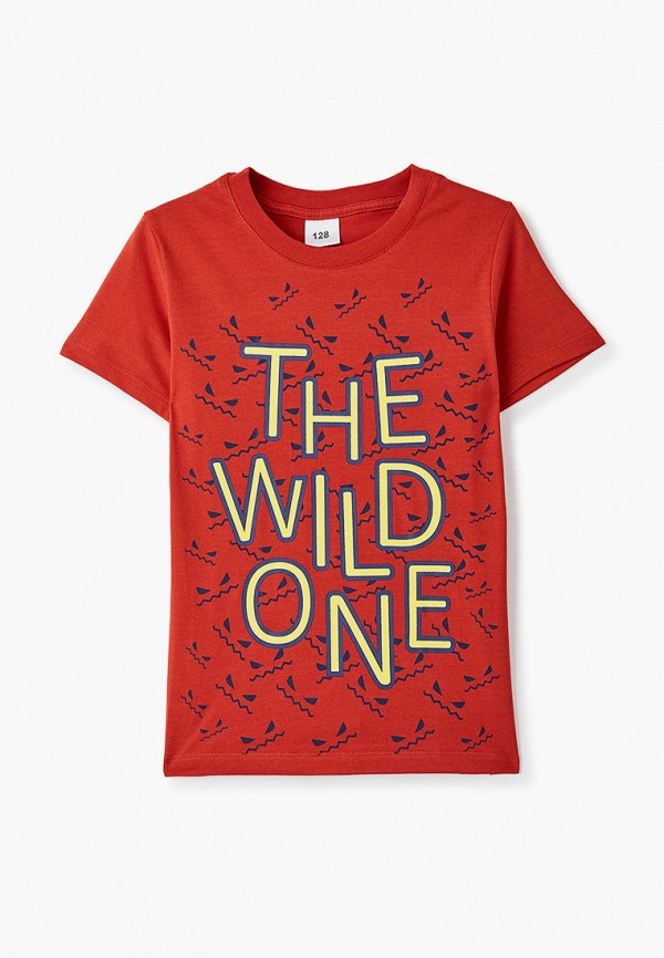 футболка с коротким рукавом repost для мальчика, красная