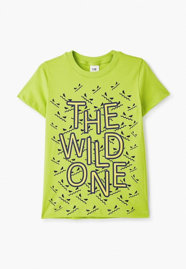 футболка с коротким рукавом repost для мальчика, зеленая