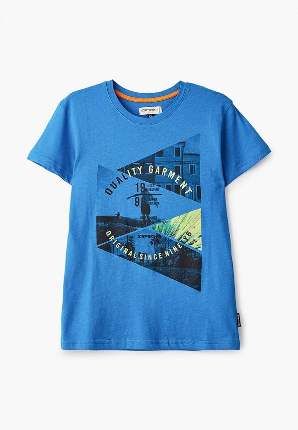 футболка с коротким рукавом icepeak для мальчика, синяя
