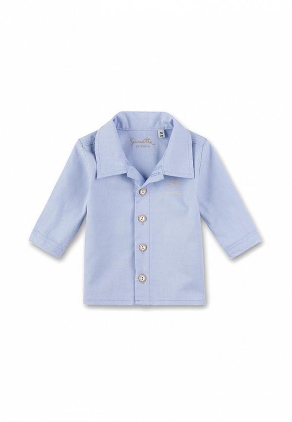 рубашка sanetta для мальчика, голубая