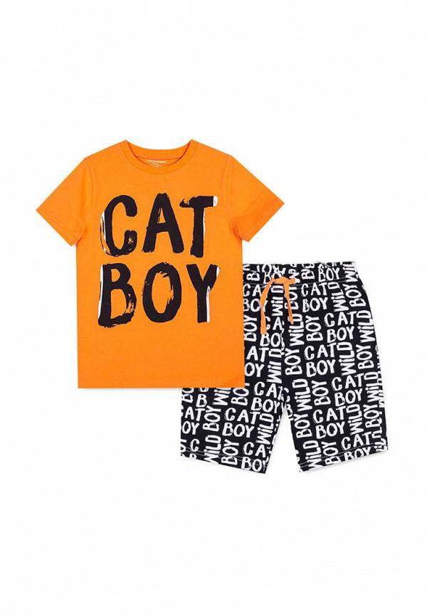 пижама coccodrillo для мальчика, разноцветная