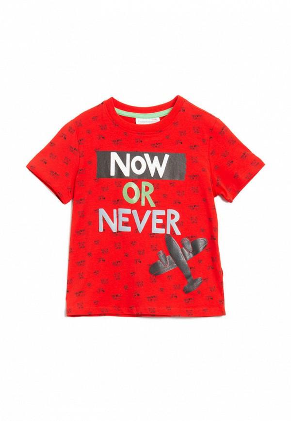футболка с коротким рукавом coccodrillo для мальчика, красная