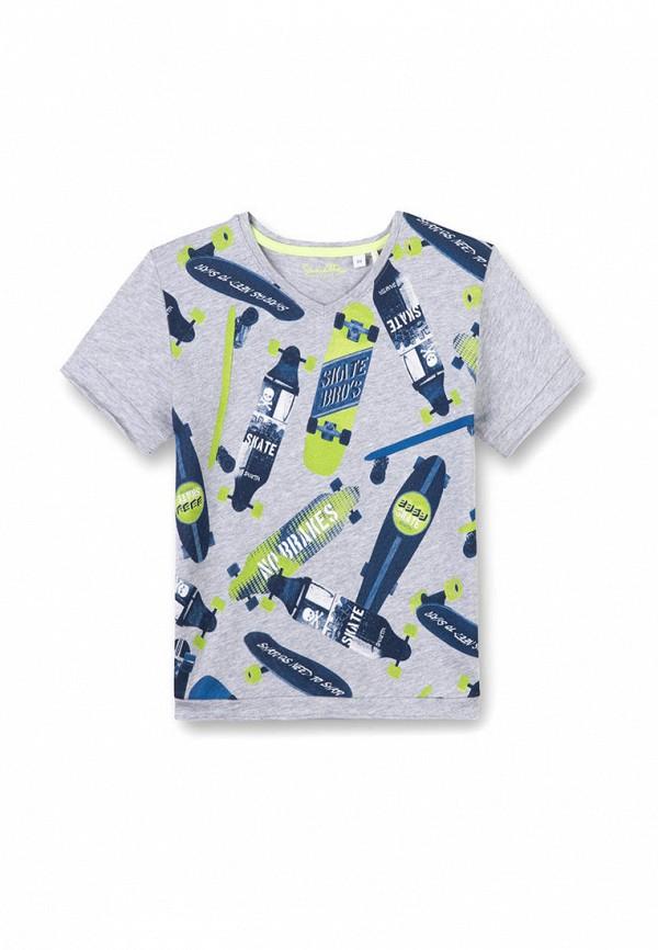 футболка с коротким рукавом sanetta для мальчика, серая