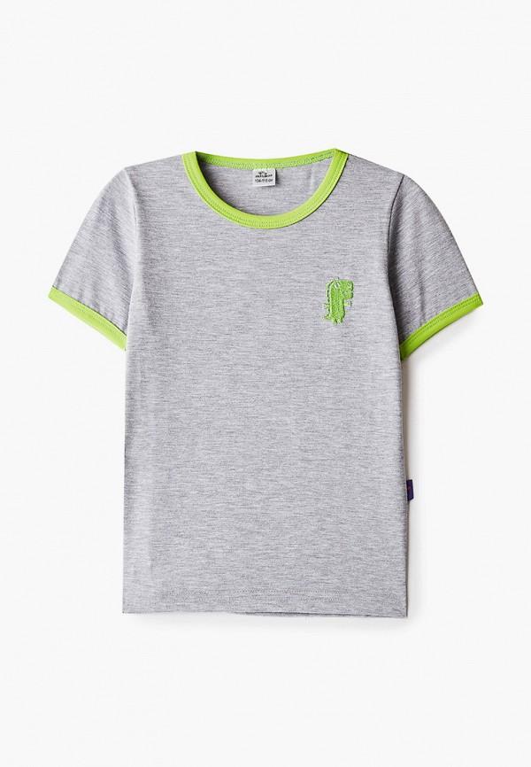 футболка с коротким рукавом vikki-nikki для мальчика, серая