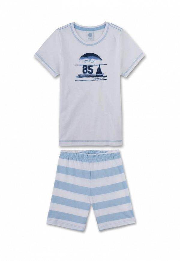 пижама sanetta для мальчика, белая