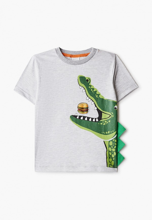 футболка с коротким рукавом котмаркот для мальчика, серая