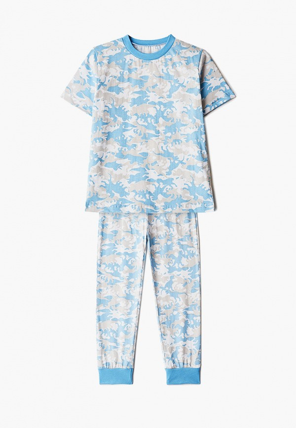 пижама котмаркот для мальчика, голубая